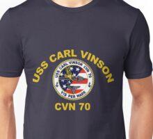 USS Carl Vinson (CVN-70) Crest for Dark Colors Unisex T-Shirt