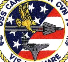 USS Carl Vinson (CVN-70) Crest for Dark Colors Sticker