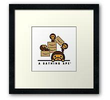 Baby Milo x A Bathing Ape Framed Print