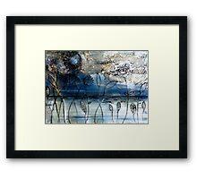 Blue Days - Oil Painting Framed Print