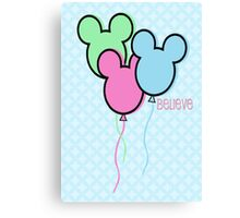 But Mickey Balloons. Canvas Print