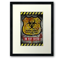 Zombie Infected Zone Framed Print
