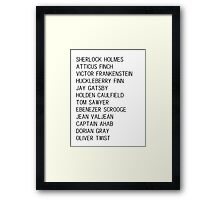 Classic Heroes Framed Print