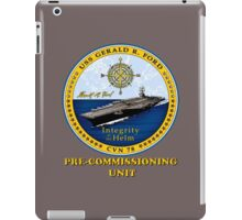 PCU Gerald R. Ford (CVN-78) Crest for Dark Colors iPad Case/Skin