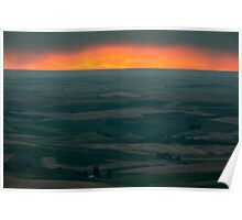 Sunset Over the Palouse Poster