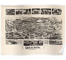 Panoramic Maps Rockaway New Jersey Poster