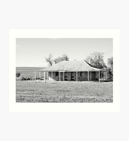 Old Coach House 1888 - Black and White Art Print