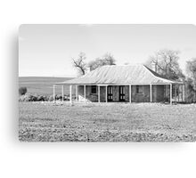 Old Coach House 1888 - Black and White Metal Print