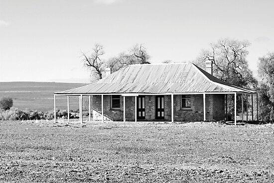 Old Coach House 1888 - Black and White by Debbie-anne