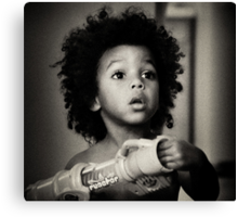Young African American Boy Canvas Print