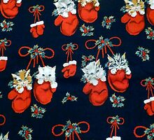 Cute Christmas Kittens In Mittens by HavenDesign