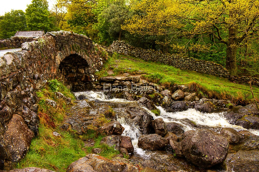 Ashness Bridge in Borrowdale, Cumbria, UK by Elana Bailey