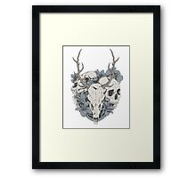 Skulls & flowers Framed Print