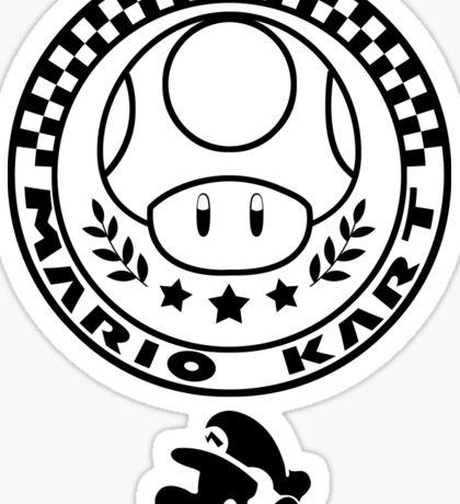 Mario Kart Mushroom Cup Sticker