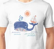 Sail on a Whale Tail Unisex T-Shirt