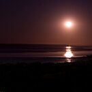Moonrise over Moonlight bay Broome by Doug Cliff