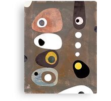 Simple shapes grey abstract retro 50s Canvas Print