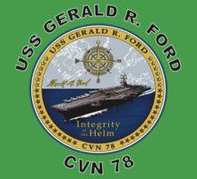 USS Gerald R. Ford (CVN-78) Crest Kids Tee