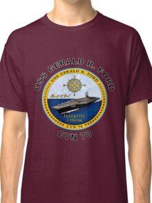 USS Gerald R. Ford (CVN-78) Crest Classic T-Shirt