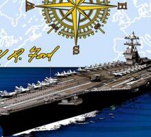 USS Gerald R. Ford (CVN-78) Crest Sticker