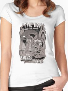 Boy from the sewer with snakes for eyes Women's Fitted Scoop T-Shirt