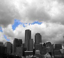 Boston Harbour skyline by bartfrancois