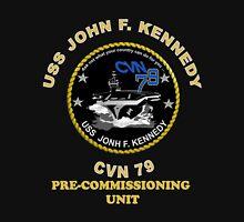Pre-Commissioning Unit John F. Kennedy (PCU-79) Crest for Dark Colors Unisex T-Shirt