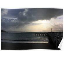 Stormy day on Wellington harbour Poster