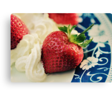 For the Love of Strawberries Canvas Print