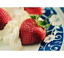 For the Love of Strawberries Photographic Print
