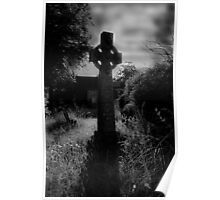 Spooky Celtic cross  Poster