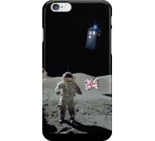 Doctored Moon Landing | White Ink iPhone Case/Skin