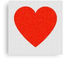 Heart Mosaic Squares Canvas Print
