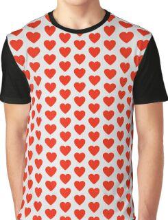 Heart Mosaic Squares Graphic T-Shirt
