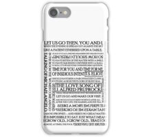 The Love Song of J. Alfred Prufrock iPhone Case/Skin
