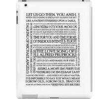 The Love Song of J. Alfred Prufrock iPad Case/Skin