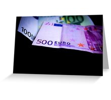 Euro Note Greeting Card