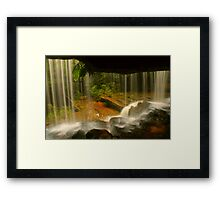 Lower Somersby Falls .. behind the veil Framed Print