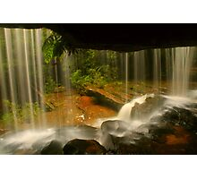 Lower Somersby Falls .. behind the veil Photographic Print