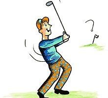 Golfer by MariMarcArt