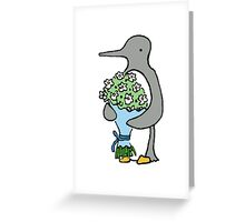 Ralph Brings You Flowers Colour Greeting Card