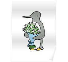 Ralph Brings You Flowers Colour Poster