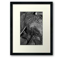 Buddha in garden 001 Framed Print