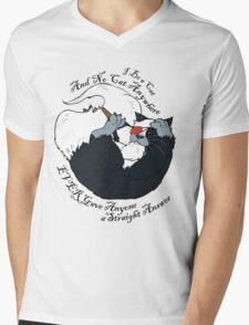 I be a Cat Mens V-Neck T-Shirt