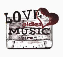 Vintage Love oldies music Kids Clothes