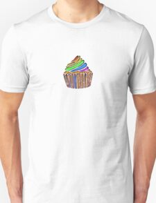 Textured Rainbow Cupcake T-Shirt