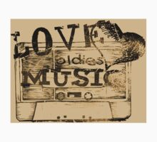 Vintage Love oldies music #2 Kids Tee