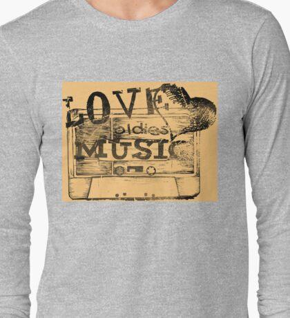 Vintage Love oldies music #2 Long Sleeve T-Shirt