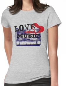 Vintage Love oldies music #3 Womens Fitted T-Shirt