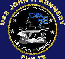 USS John F. Kennedy (CVN-79) Crest for Dark Colors by Spacestuffplus